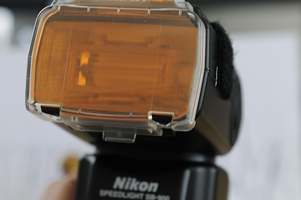 CTO gel on Nikon SB-900